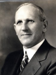 Alfred Atkinson (October 6, 1879-May 16, 1958), Canadian American agronomist and MSC president, 1919-1937. The man who oversaw the $750,000 construction of the MSC gymnasium and hired G. Ott Romney, both in 1922. Photo courtesy of Montana State University Library, Max Worthington Papers