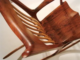 """Maureen's Rocker,"" made of walnut and birdseye maple."