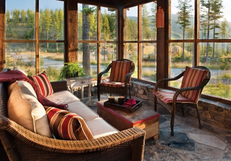 Past the master suite and an office, lies one of the owner's favorite spaces, a secluded screened-in porch.