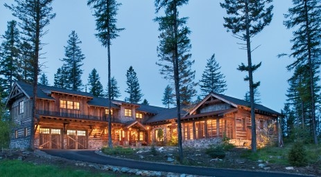The house, which offers majestic views of the mountains and Whitefish Lake, is an artful blend of old and new.