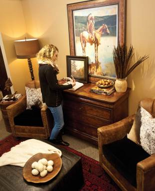 """For 25 years, Kibler & Kirch has offered complete interior design services, along with eye-catching housewares and gift ideas that turn the idea of """"rustic"""" on its ear."""