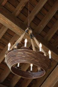 Accents make a clear nod to the Rocky Mountain Rustic aesthetic, but avoid feeling heavy or cumbersome by pairing with modern, light design elements (below).