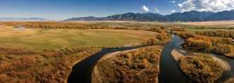The Jefferson River Valley south of Twin Bridges features sweeping views of the Tobacco Root Mountains.