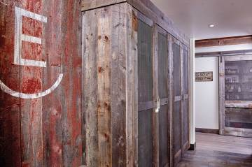 Reclaimed lumber adds barn-like accents