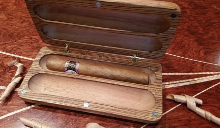 A.L. Swanson expands his craft to cigar boxes, which are handcrafted in Spanish cedar, walnut, maple burl and abalone shell.