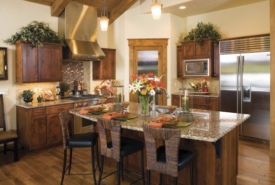 Clean-lined design in the modern kitchen sets the tone for comfortable living at The Idaho Club.