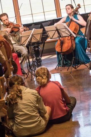 The Ariel Quartet, with pianist Nicolai Demidenko, performed Brahms' C-Minor Piano Quartet in the Olivier Barn.
