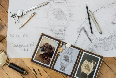 A detailed drawing and portfolio are just some of the collateral involved in a collaboration with John Banovich for a mutual client.