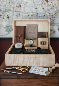 An American-made custom watch box and roll accompany this unique timepiece to its new owner, a collector in northern Italy.