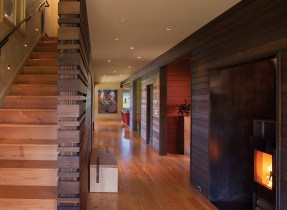 The hallway acts as the spine of the house, and also as a centralized gathering space.