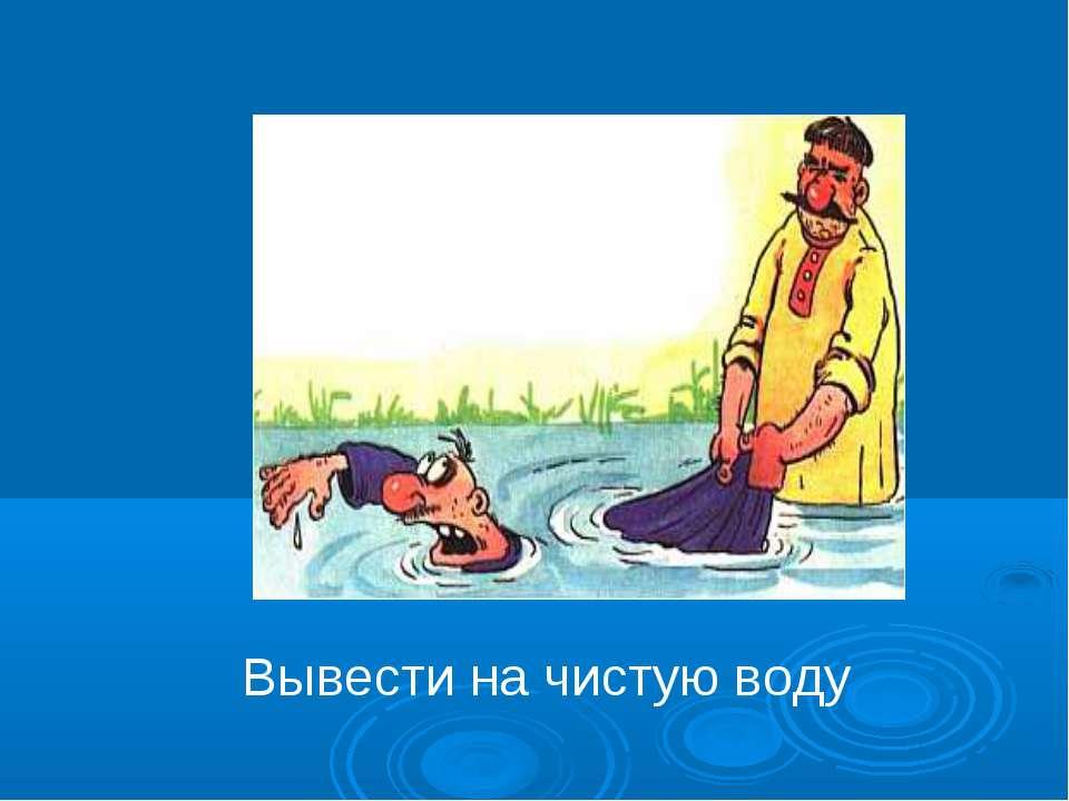 Выводить на чистую воду - значение фразы