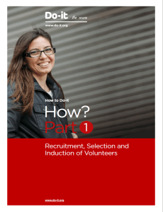 How Part 1 - recruitment, selection and induction of volunteers