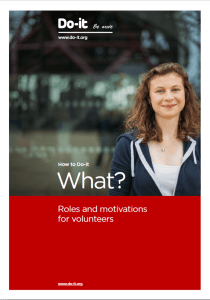 How to Do-it - What - roles and motivations for volunteers