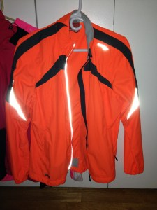 """This is my favorite """"shell"""" jacket- it's very light but it keeps my """"lower layers"""" dry.  It's nice for cooler summer runs- to wet runs, and even winter runs.  Another Vizipro from Saucony (I love their neon colors)"""