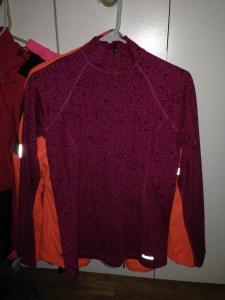 This is a super warm Reebok long sleeve.  The inside is warm and fleecy so it is perfect for colder runs.