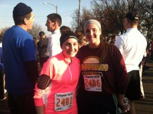 Lansing Turkey Trot 2012.  I coerced my sister into running with me.  She said she'd be thankful if I didn't do that again
