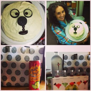 I LEGIT have the best coworkers.  Yes that is a panda cake