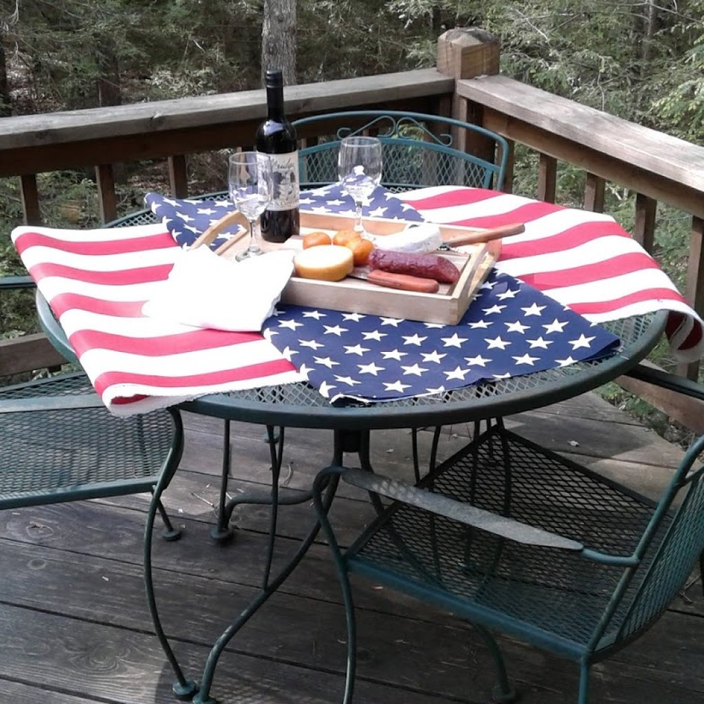 Enjoy afternoon snacking on deck patio