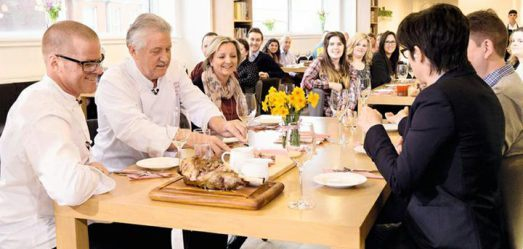 heston blumenthal, brian turner, sue perkins waitrose easter lunch