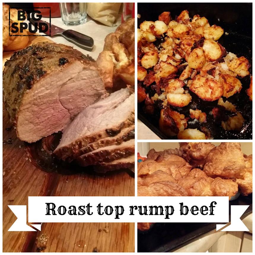 top rump roast beef