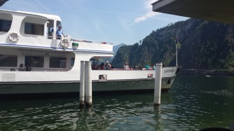 The ferry boat around the lake