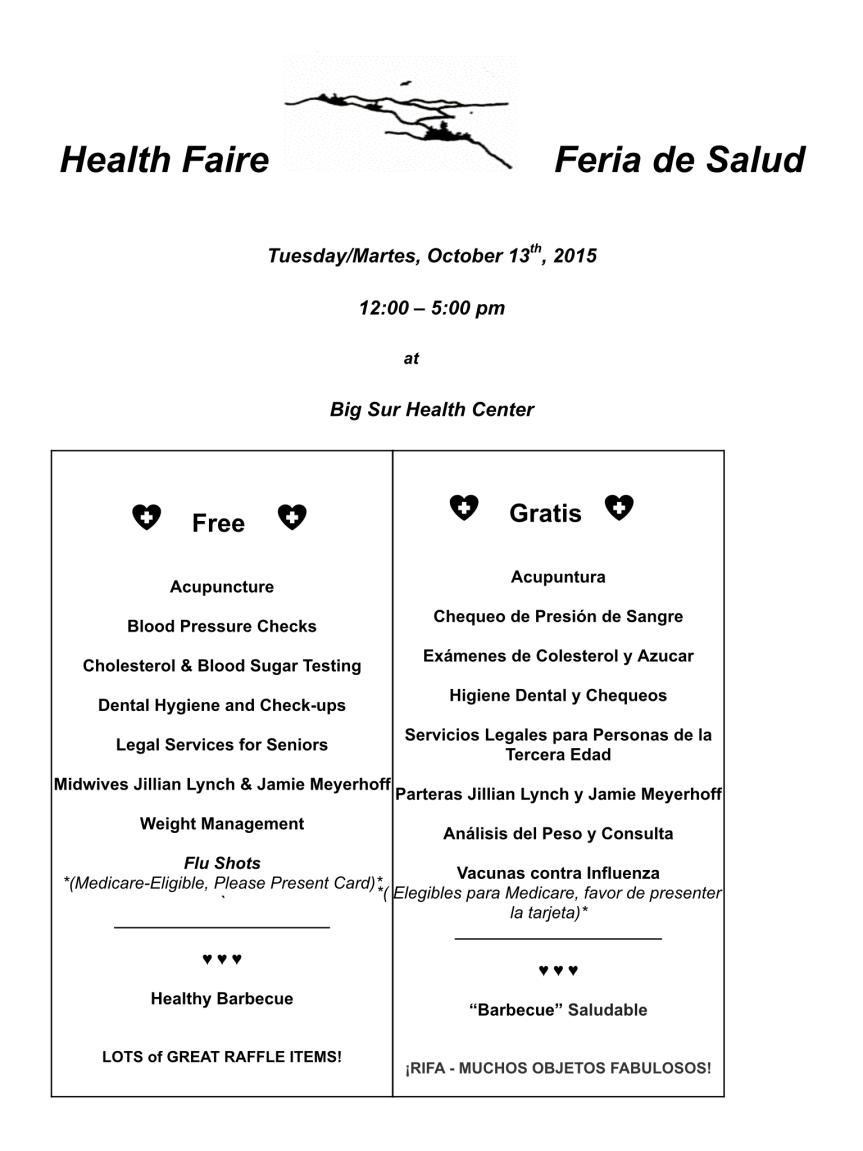 Health Fair Oct 13, 2015