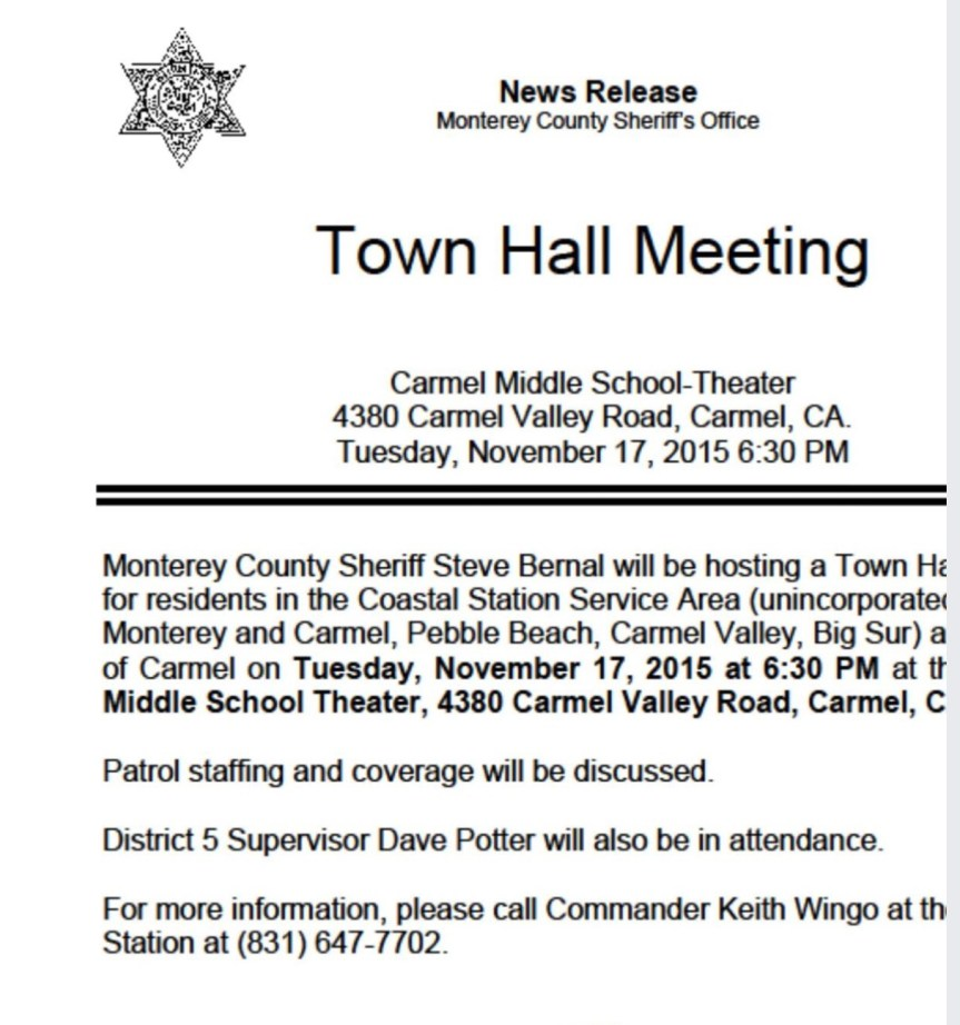 MCSO Town Hall Meeting re coverage