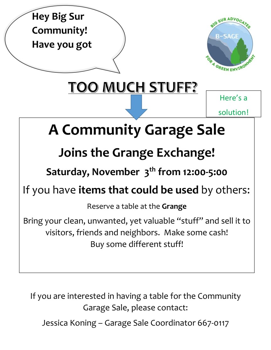 B-SAGE – Community Garage Sale