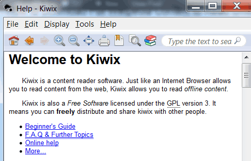 kiwix-wikipedia-reader