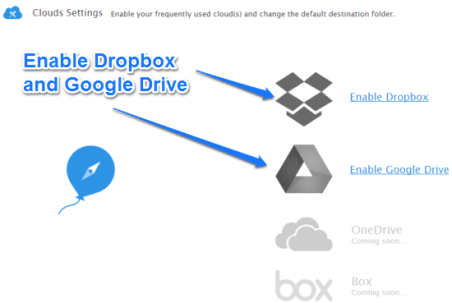 Save any Images and Files to Google Drive or Dropbox directly with Ballloon (3)