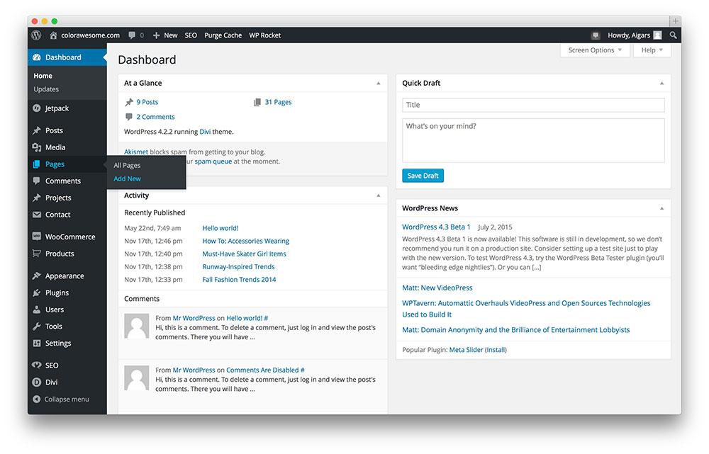 add-new-page-wordpress