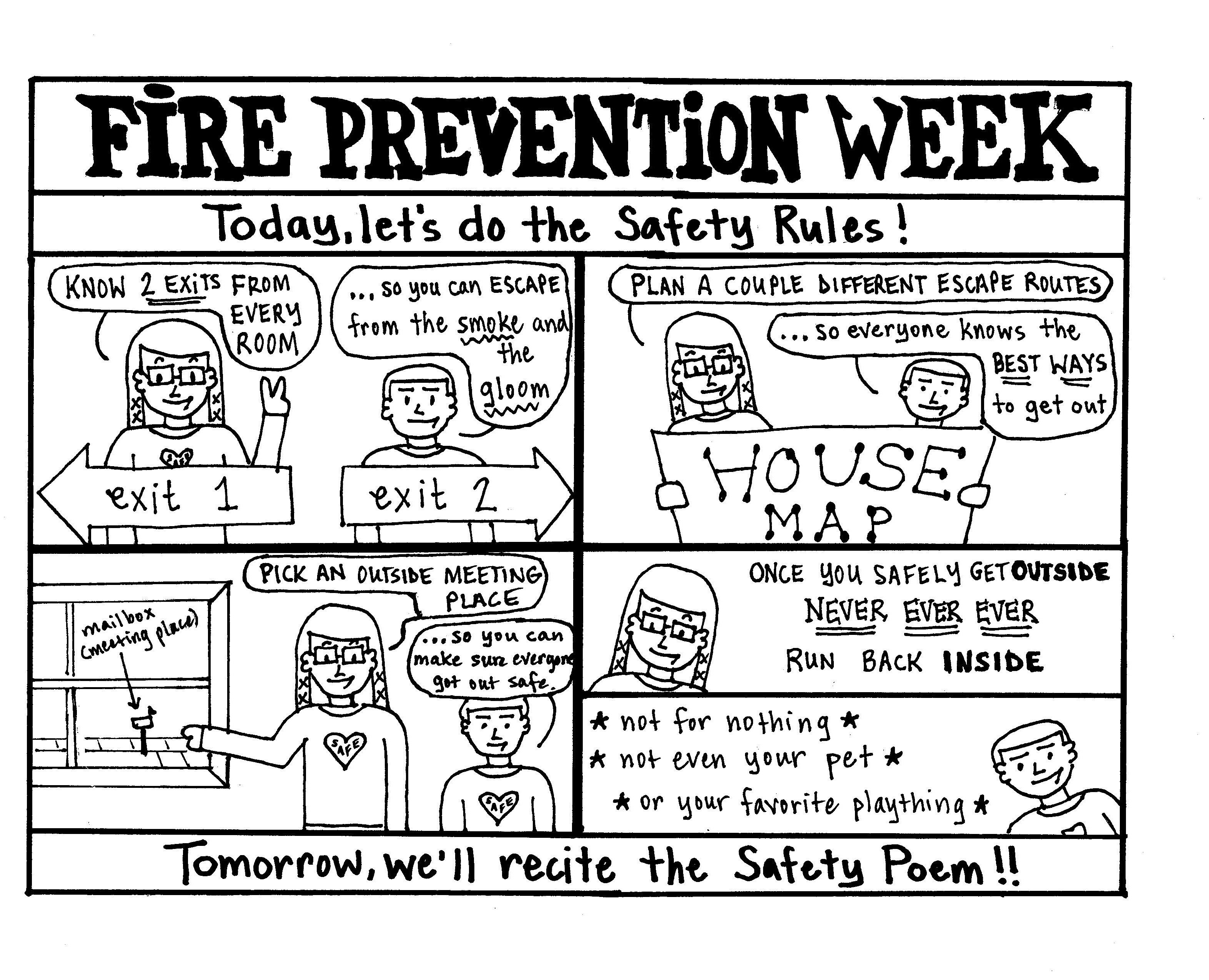 Fire Safety Rules For Preschoolers