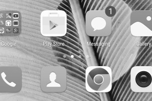 Smartphone screen black and white