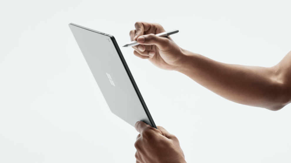 Surface Book 2 looks like this - writing on screen