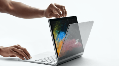 Surface Book 2 looks like this - flipped