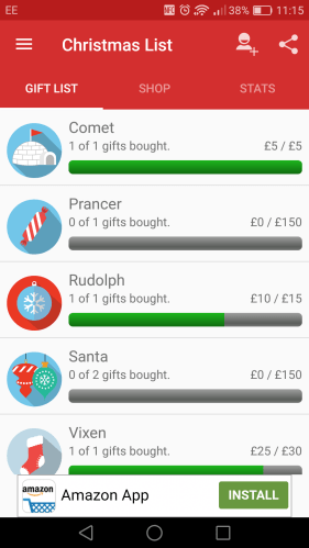 what s the best app for keeping track of christmas presents the