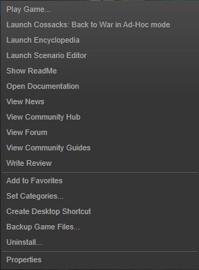 Back up Steam game files