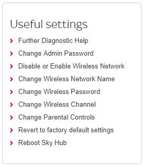 Change Sky Wi-Fi password