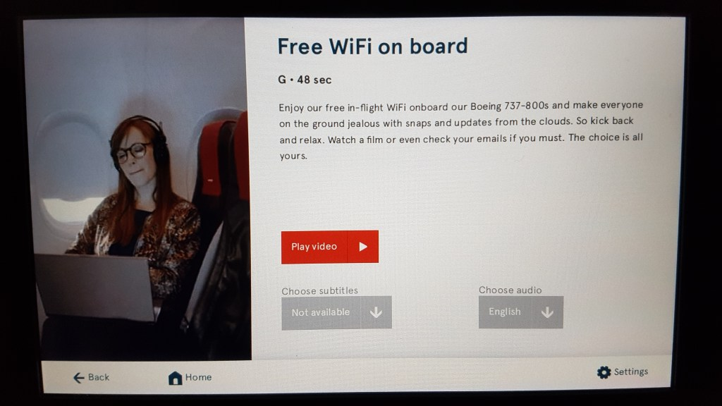 Norwegian in-flight entertainment