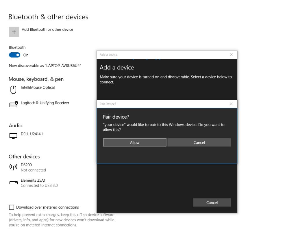 Pair Echo speaker to Windows
