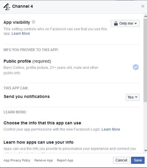Channel 4 Facebook data