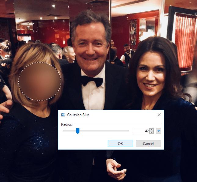 Piers selfie blur