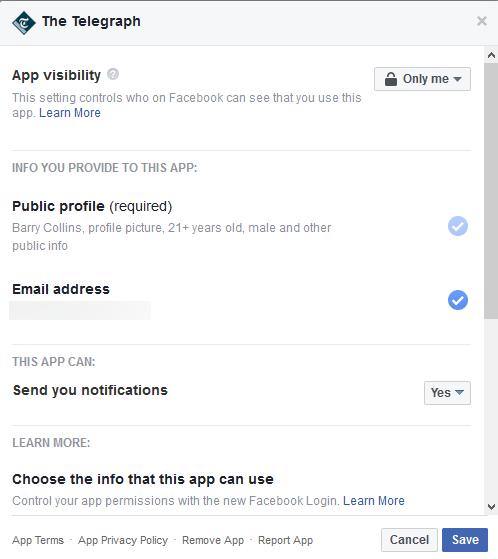 Telegraph Facebook data