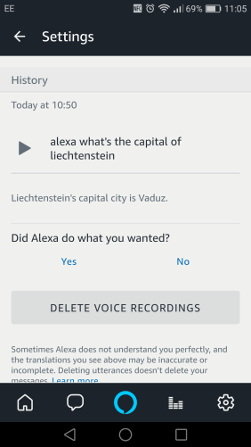 Delete Alexa voice recordings?