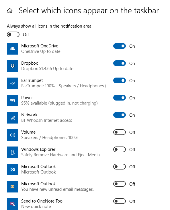 Windows volume settings