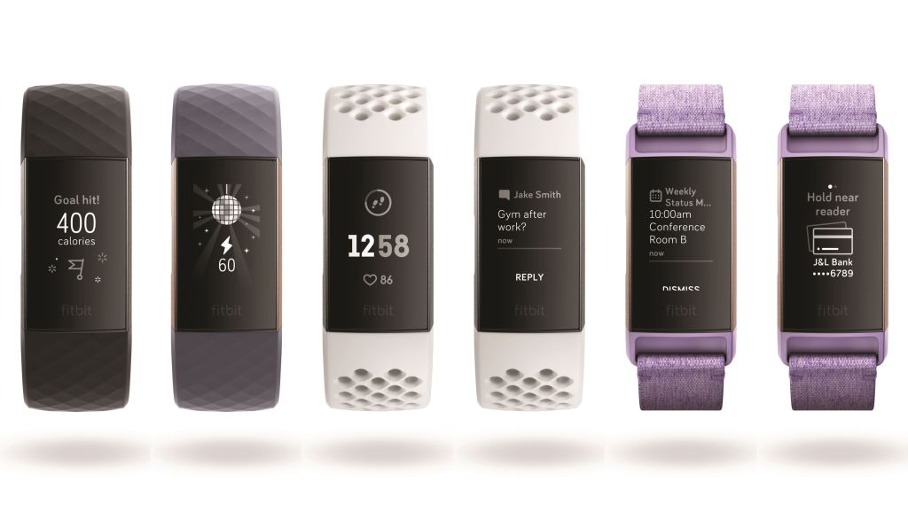 Fitbit Charge 3 screens