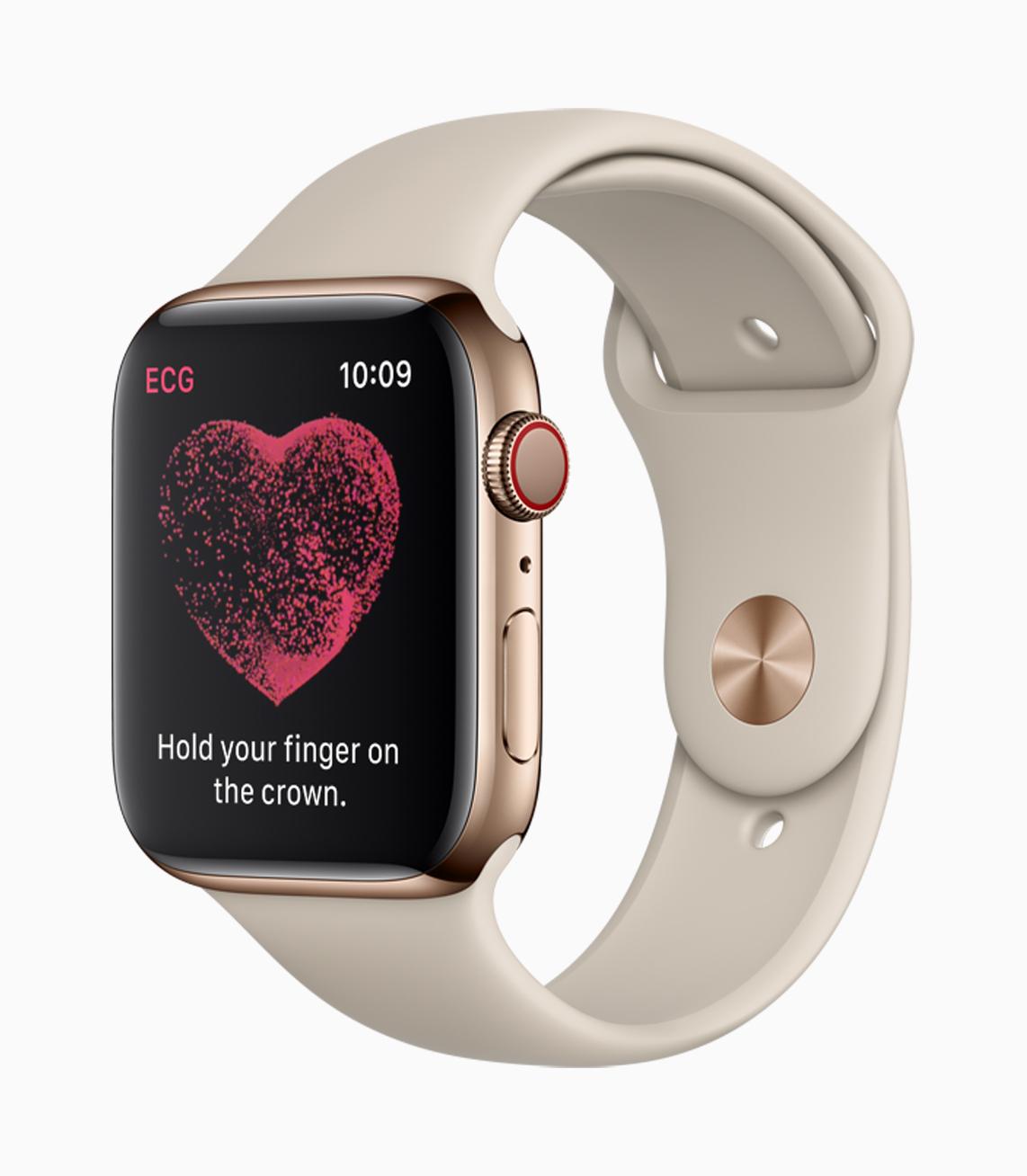 Apple Series Watch 4 ECG in caction