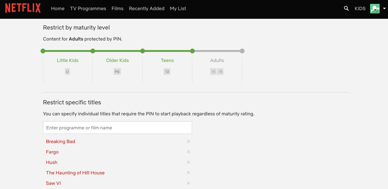 How to protect Netflix with a PIN
