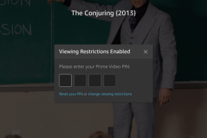 Protect Amazon Prime Video with a PIN?