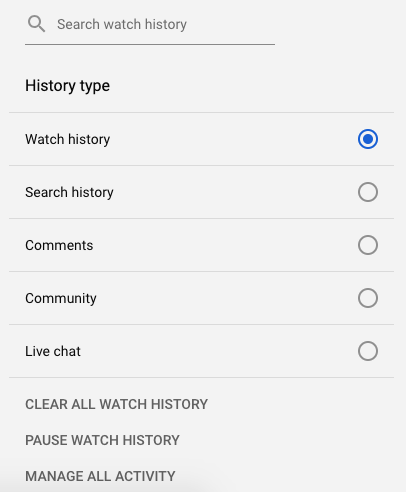 Switch off YouTube recommendations